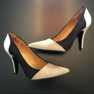 Chinese Laundry Suede Colorblock Heels